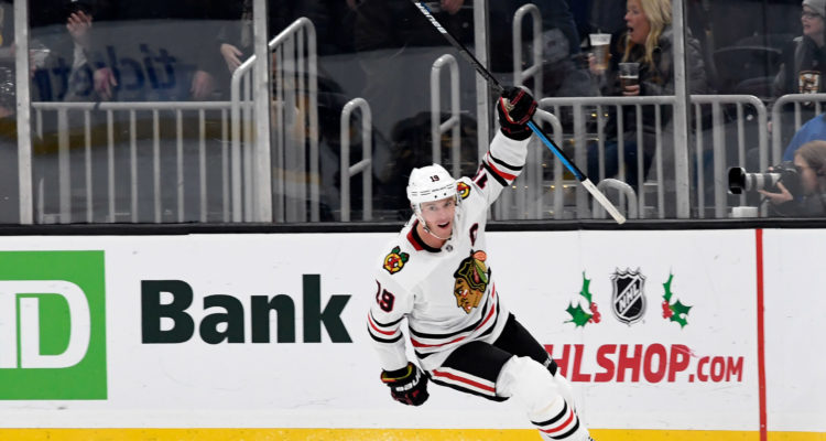 Toews, Chicago Trip Boston in OT 4-3