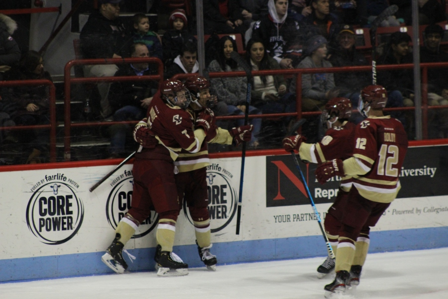#5 Boston College Bests #10 Northeastern on Strong Second Period Effort