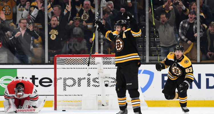 Bergeron Wins Game One in Double OT